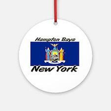 Hampton Bays New York Ornament (Round)