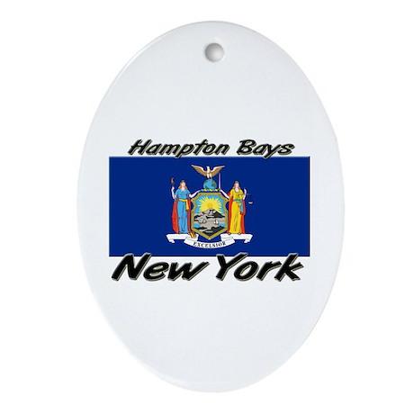 Hampton Bays New York Oval Ornament