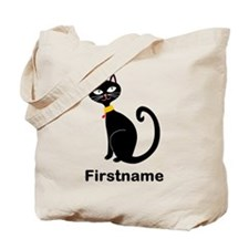 Black Cat (p) Tote Bag