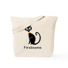Black Cat (p) Tote Bag