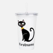 Black Cat (p) Acrylic Double-Wall Tumbler
