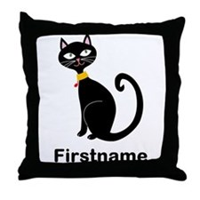 Black Cat (p) Throw Pillow