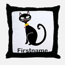 Black Cat (p) Throw Pillow