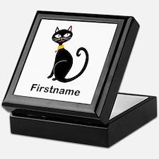 Black Cat (p) Keepsake Box