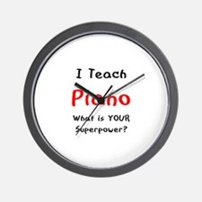 teach piano Wall Clock