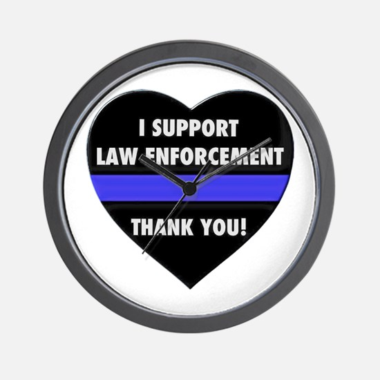 I Support Law Enforcement Wall Clock