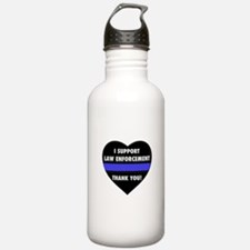 I Support Law Enforcement Water Bottle