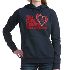 Cute Coffee girl Women's Hooded Sweatshirt