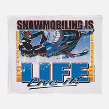 Snowmobiling-Is-Life-.png Throw Blanket