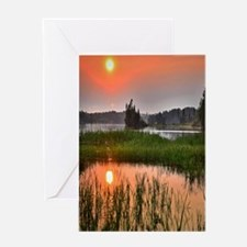 Country Sunset Greeting Cards