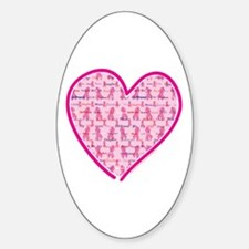 Lets Cure Cancer Heart Decal