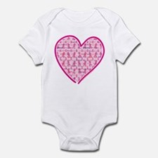 Lets Cure Cancer Heart Infant Bodysuit