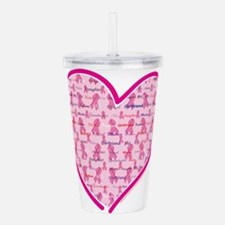 Cancer-Heart.png Acrylic Double-wall Tumbler
