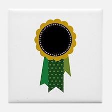 Award Ribbon Tile Coaster