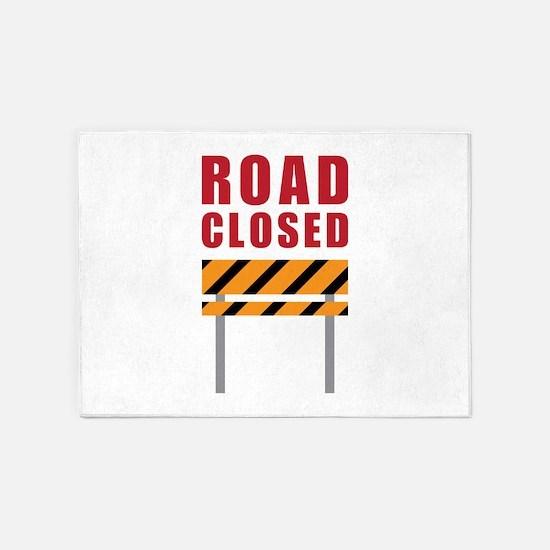 Road Closed 5'x7'Area Rug