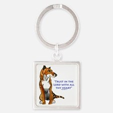Trust in the Lord Thylacine Square Keychain