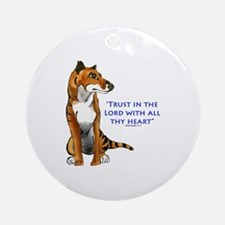Trust in the Lord Thylacine Round Ornament
