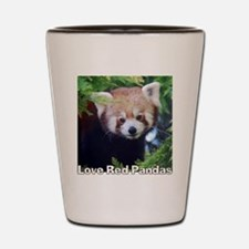 Love Red Pandas Shot Glass