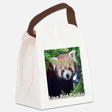 Love Red Pandas Canvas Lunch Bag