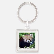 Love Red Pandas Square Keychain Keychains