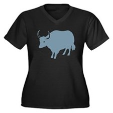 Funny Animals wildlife Women's Plus Size V-Neck Dark T-Shirt