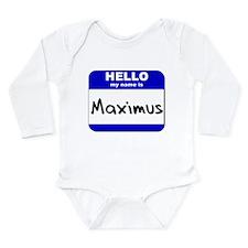 Cute Maximus Long Sleeve Infant Bodysuit