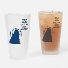 Downhill from here Drinking Glass