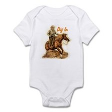 Reining Horse, Infant Bodysuit