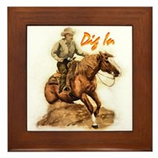 Reining Horse, Framed Tile