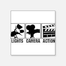 "Cute Action movie Square Sticker 3"" x 3"""