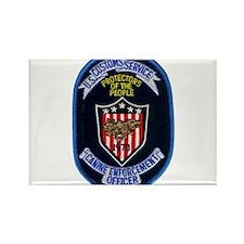 Customs K9 Officer Rectangle Magnet (100 pack)