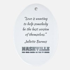 JULIETTE BARNES Oval Ornament