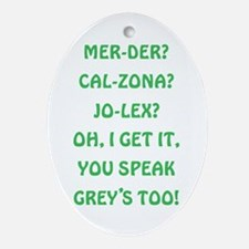 GREY'S ANATOMY Oval Ornament