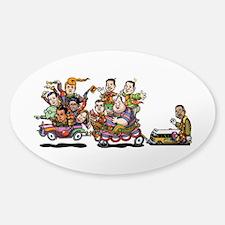 GOP Clown Car 10-'15 Sticker (Oval)
