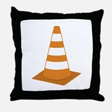 Traffic Cone Throw Pillow