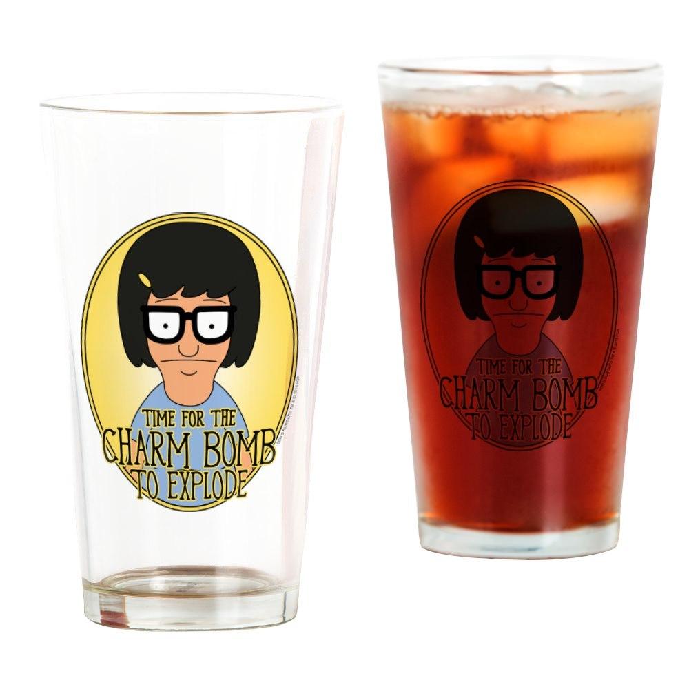 CafePress Bob's Burgers Tina Charm Bomb Drinking Glass
