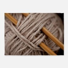 Knitting Needles 5'x7'area Rug