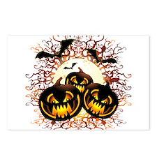 Black Pumpkins Halloween Night Postcards (Package