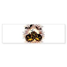 Black Pumpkins Halloween Night Bumper Bumper Sticker