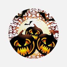 Black Pumpkins Halloween Night Button