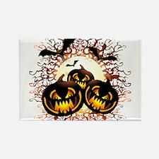 Black Pumpkins Halloween Night Magnets