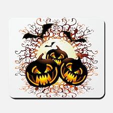 Black Pumpkins Halloween Night Mousepad