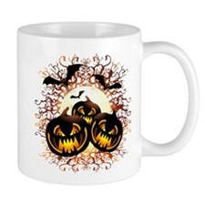 Black Pumpkins Halloween Night Mugs