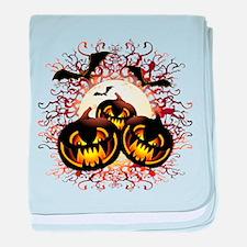Black Pumpkins Halloween Night baby blanket