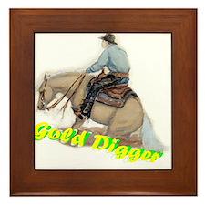 Reining Horse, Gold Digger Framed Tile