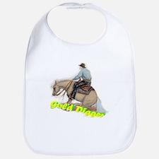 Reining Horse, Gold Digger Bib