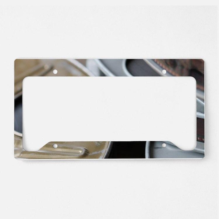 Movie Reel License Plate Holder