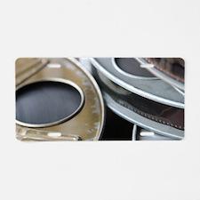 Movie Reel Aluminum License Plate