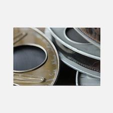 Movie Reel Rectangle Magnet