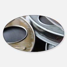 Movie Reel Sticker (Oval)
